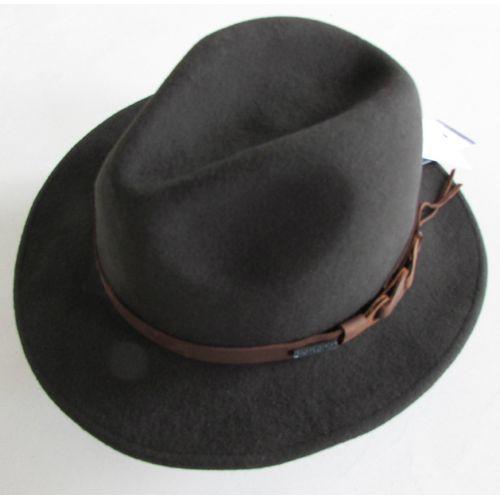 Dark Brown Australian Wool Cowboy Dress Fedora Hats for Men SKU-159056
