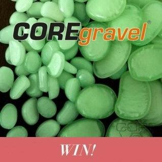 Win a bag of COREglow glow in the dark pebbles!