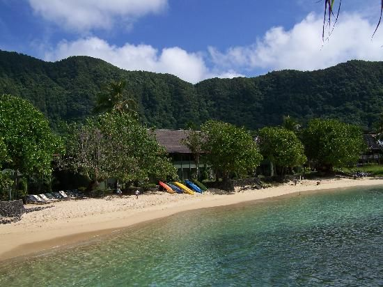 Pago Pago, American Samoa: View of the rooms & beach