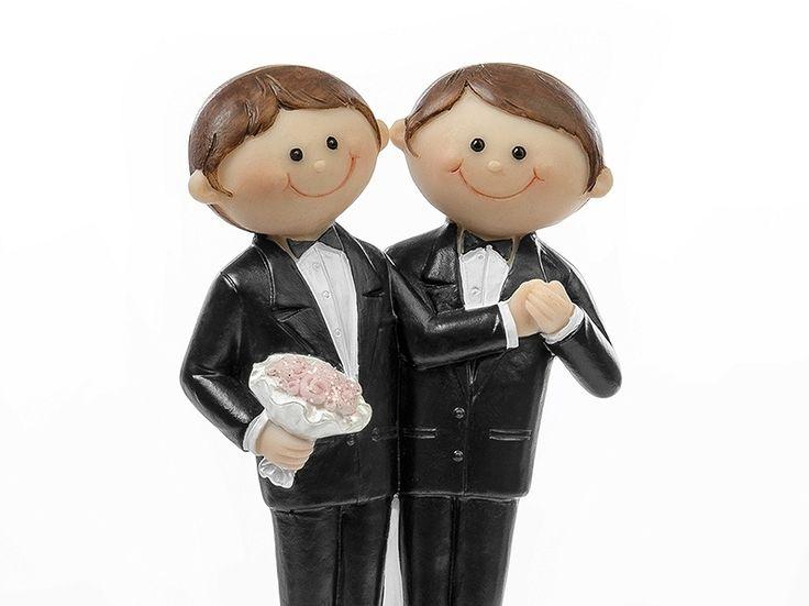 """Weiteres - Tortenfigur Schwules Paar """"Er liebt Ihn"""" - ein Designerstück von Lolima-Shop bei DaWanda"""
