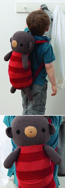 "Monkey Backpack -Pattern in ""Amigurumi on the Go"" by Ana Paula Rimoli :)"