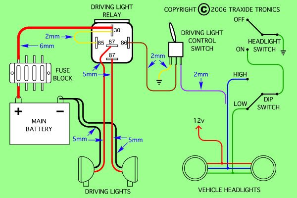 Diagram is for negative switched headlights | Car Stuff