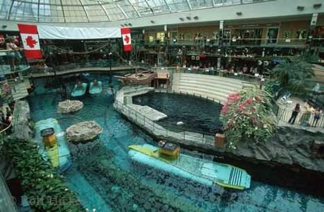Edmonton, Alberta West Ed just got rid of the subs. When they had them, we were able to say: Our mall has more subs than our navy!