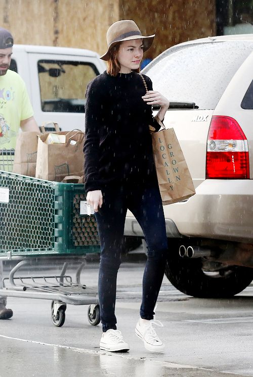 Emma Stone out and about in LA on March 1st, 2015.