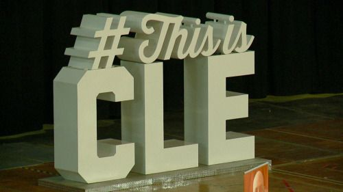 2016 #ThisisCLE: Destination Cleveland kicks off mobile tour...: 2016 #ThisisCLE: Destination Cleveland kicks off mobile tour today at Cavs…