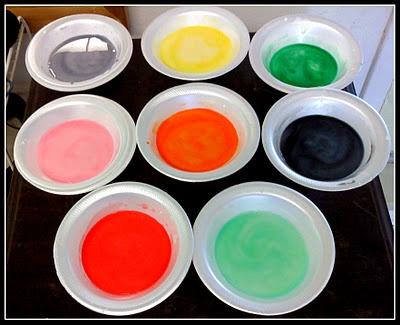 Cornstarch paints