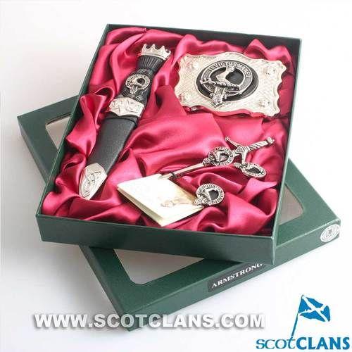 Clan Crest Kilt Accessory Gift Set | Scottish Clan Kilt Accessories
