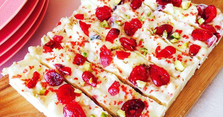 ホワイトチョコバー バレンタインに♡ by dear*m [クックパッド] 簡単おいしいみんなのレシピが257万品
