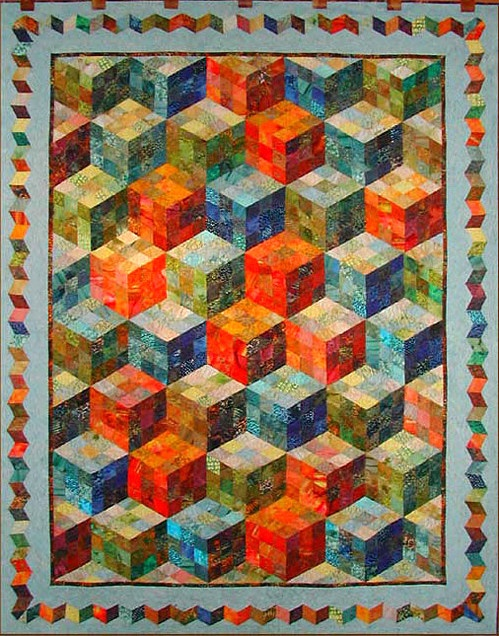 """Playing with Cubes"", Claudia Pfeil, seen at Quilt & Co (Germany)Quilt Inspiration, Quilting Sewing, Quilt Ideas, Diy And Crafts, Www Nwquiltingexpo Com Nwqe, Nwqe Quilt, Geometric Fascinators, Claudia Pfeil, Patchwork Cubes"