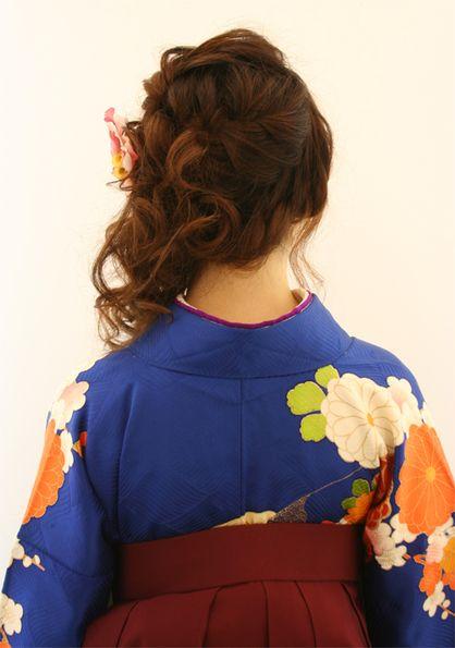 卒業式の着付けとヘアセット | 三宮駅周辺の美容室 Raffine三宮のヘアスタイル | Rasysa(らしさ)