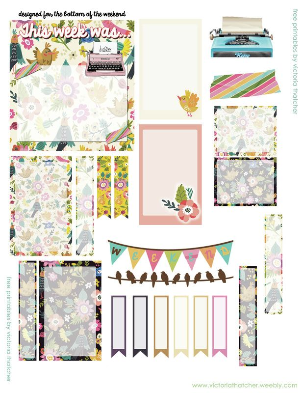 Free Retro Floral Printable Planner Stickers