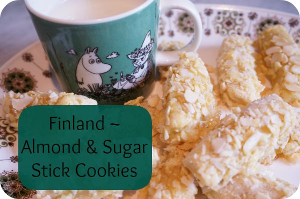 Finland ~ Almond & Sugar Stick Cookie ~ sweet and buttery cookies ~ easy to make and delicious