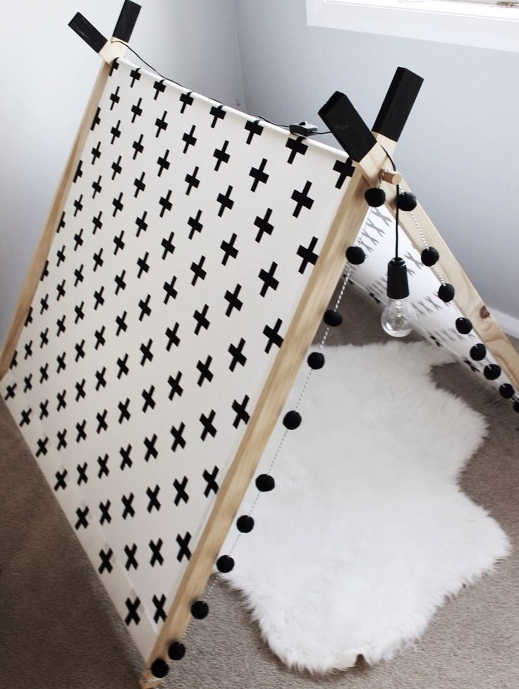 Image of A-frame tent cross print
