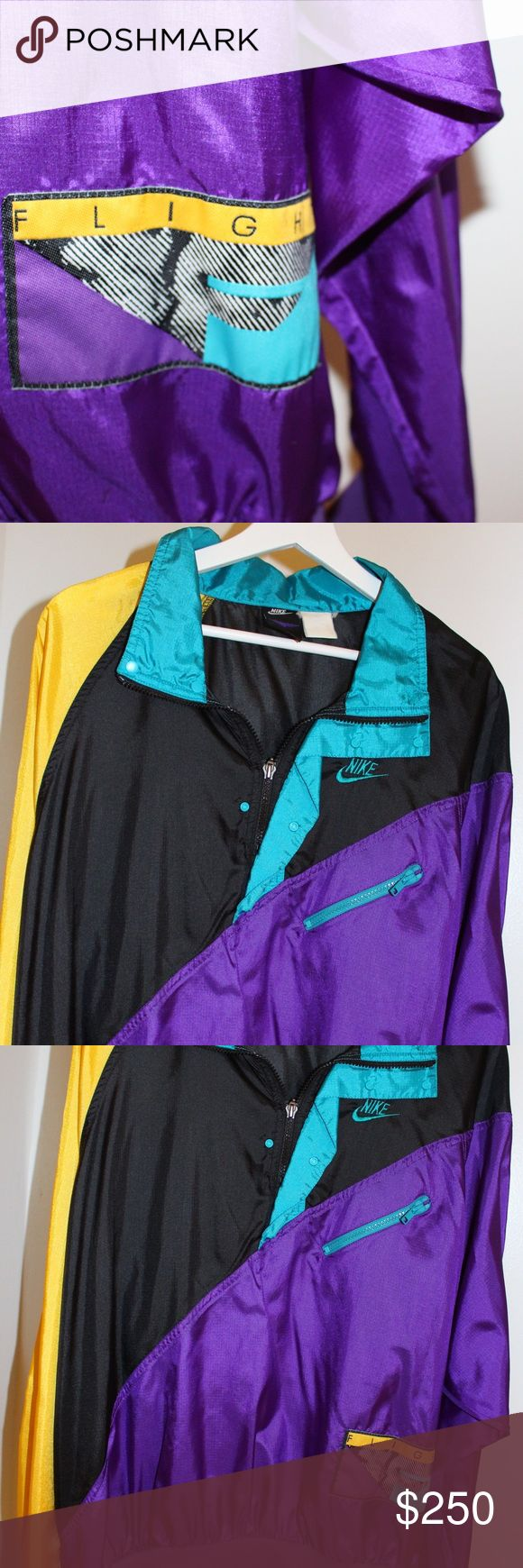 VINTAGE NIKE FLIGHT AIR JORDAN WINDBREAKER Vintage Nike Flight Air Jordan Windbreaker. Great condition. Care label is slightly faded, but that's about it. Let me know if you would like to receive additional images/ info! (-: Nike Jackets & Coats
