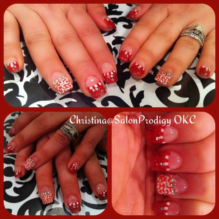 50 best nail designs by me images on pinterest nail designs christmas nail design wahoo prinsesfo Image collections