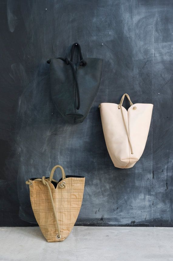 minimal rucksack natural por chrisvanveghel en Etsy