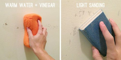 Wallpaper Zero, Fixing Flawed Walls & Paint Plans   Young House Love. How to prep walls for painting after wall paper removal.