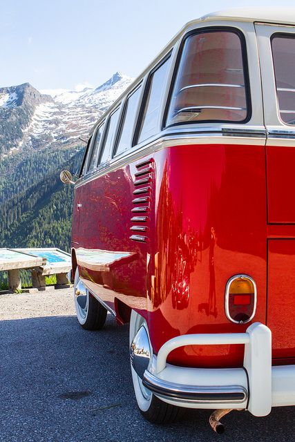 Red VW Bus :]  Dreaming of California