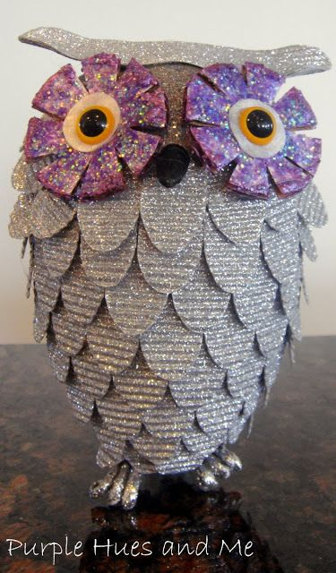 West Elm inspired Glitter Owl Ornament. DIY inostructions on how to make this adorable guy with a few craft supplies. Could even make him more rustic looking using burlap or linen.