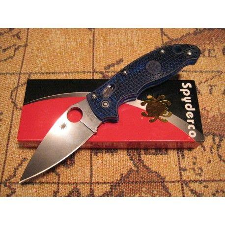 Couteau Spyderco Manix 2 Blue Lame Acier CTS-BD1 Manche Fiberglass Made In USA SC101PBL2 - Livraison Gratuite