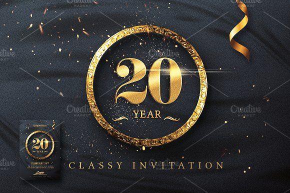 Classy Birthday Invitation by Creative Flyers on @creativemarket