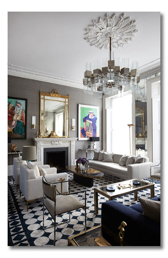 A living room of London Luxe. Ditto this space and bring what you love into your home!