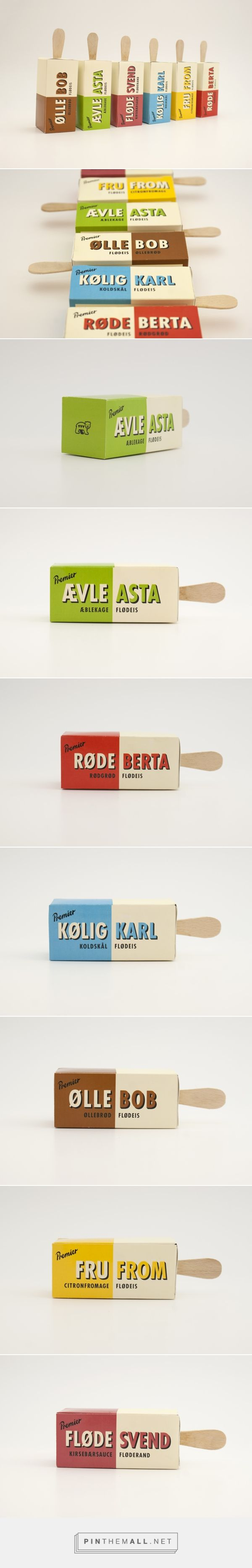 Premier Ice Cream by Lene Arensdorff, Mie Williams and Josefine P. Pin curated by #SFields99 #packaging #design