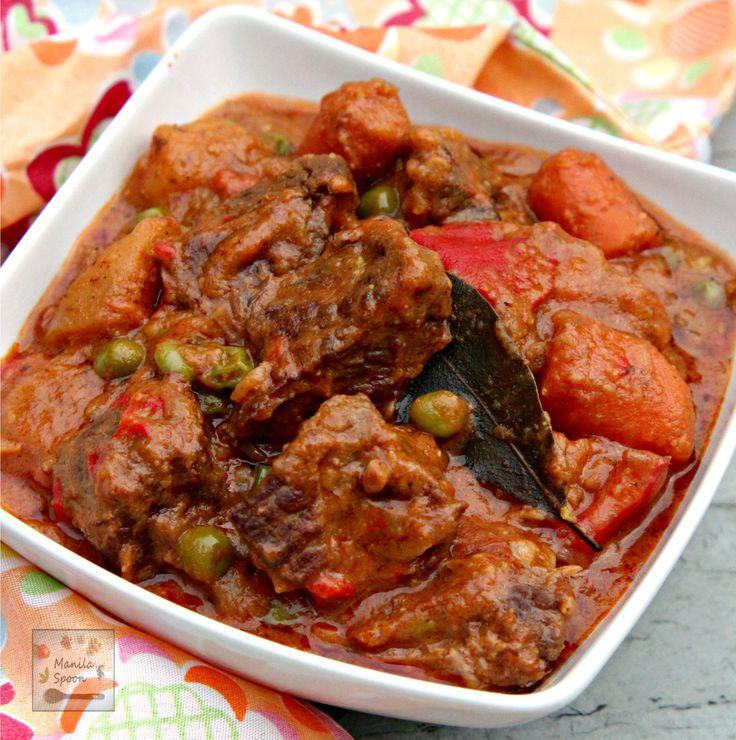 Slow Cooker Beef Caldereta / Kaldereta