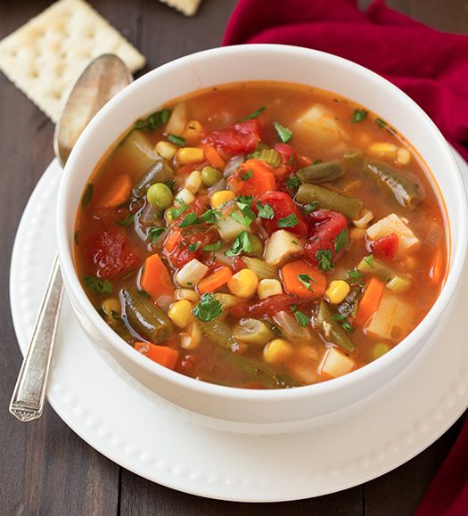 This soup is absolutely delicious and it's so easy to make and it gives you a great workout. The hardest part is doing all that chopping and...