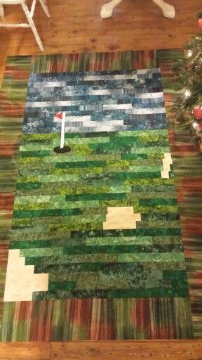 Golf Quilt with Batiks