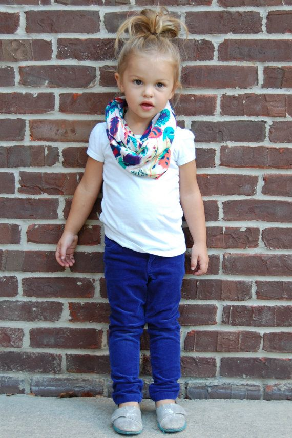 Feather Toddler Tube Infinity Scarf