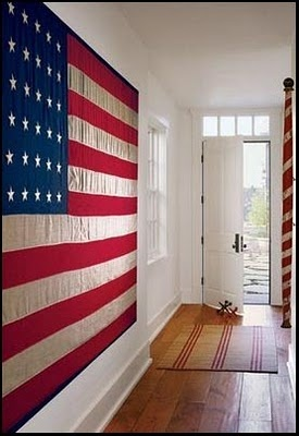 Flag in the hall. Love this.