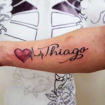 tatuajes con el nombre thiago geniales