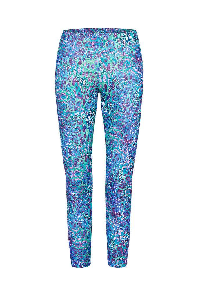 Mermaid Printed Legging - 3/4 – Dharma Bums Yoga and Activewear