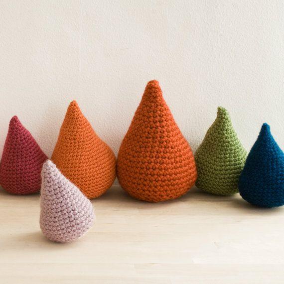 Amigurumi Stuffing Alternatives : Crochet drops stuffed with lavender. SUCH a good idea ...