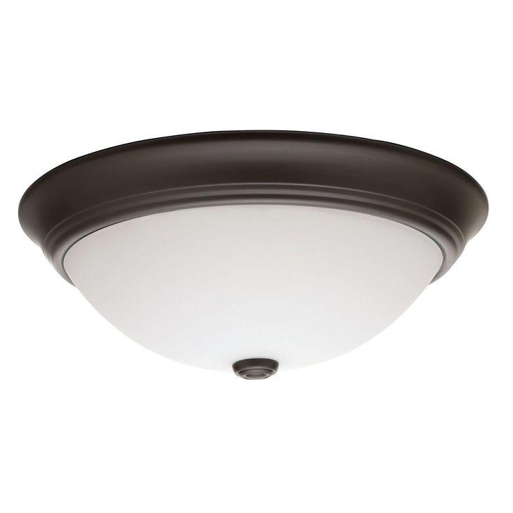 Lithonia Lighting 11983 BZ M2 55 Watt Bronze D�cor Round Flush Mount