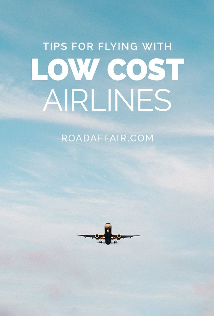 Tips for flying with budget airlines pinterest pin