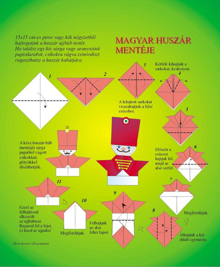 magyar huszár origami