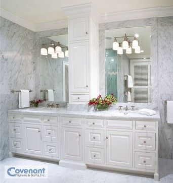 Houzz Bathrooms | White Stone Master Bathroom Bathroom