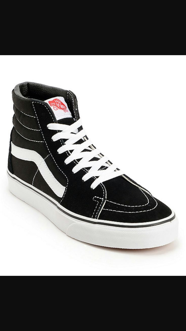 Blending a timeless high top Vans style and modern tech with these Vans  Women's shoes in an all new slimmer design. A classic black suede upper  with white ...
