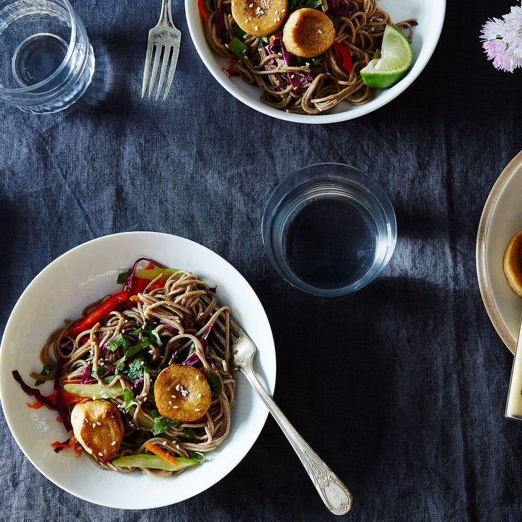 "Sesame Noodle Salad with Seared Mushroom ""Scallops"" Recipe on Food52 recipe on Food52"