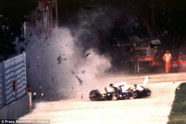 Fateful moment: Senna lost control of his Williams FW16 car on lap seven at the San Marino... http://dailym.ai/1mSqxdh#i-adf60e90