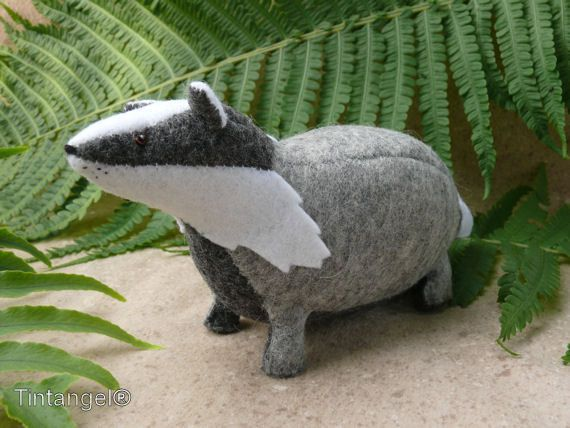 The Badger  DIY kits by Tintangel on Etsy
