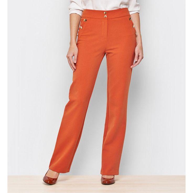Pantalón talle alto naranja