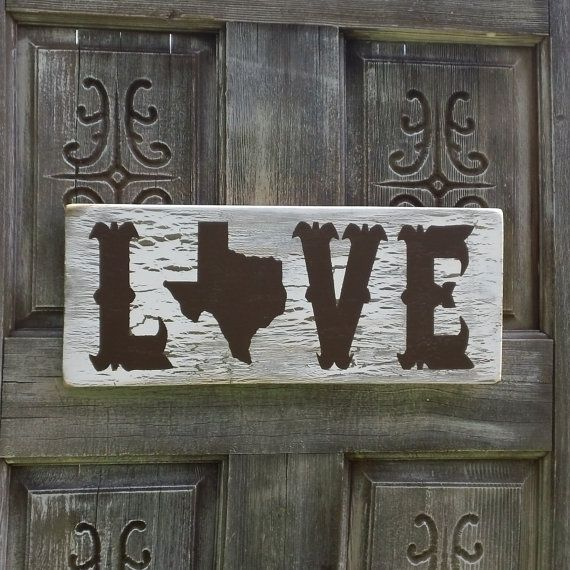 Texas Sign - Love on Etsy, $34.95