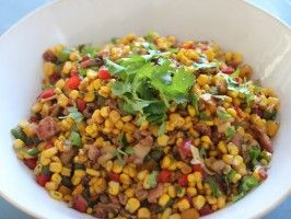 Ab is drooling over this on Siba's Table right now... I guess I'll make it for him soon. | Ginger and Coriander Corn Salad from CookingChannelTV.com