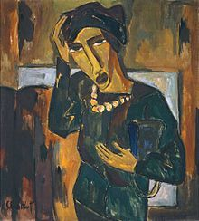 Woman with a Bag - Karl Schmidt-Rottluff