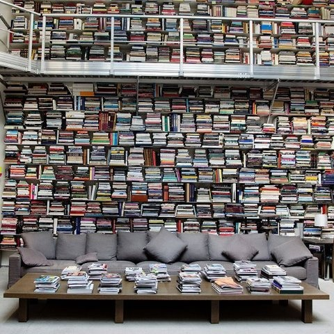karl lagerfeld's research room...drool
