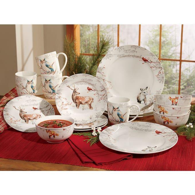 Whimsical Winterland Dinnerware Set Christmas Dinnerware Christmas Dinnerware Sets Dinnerware Set