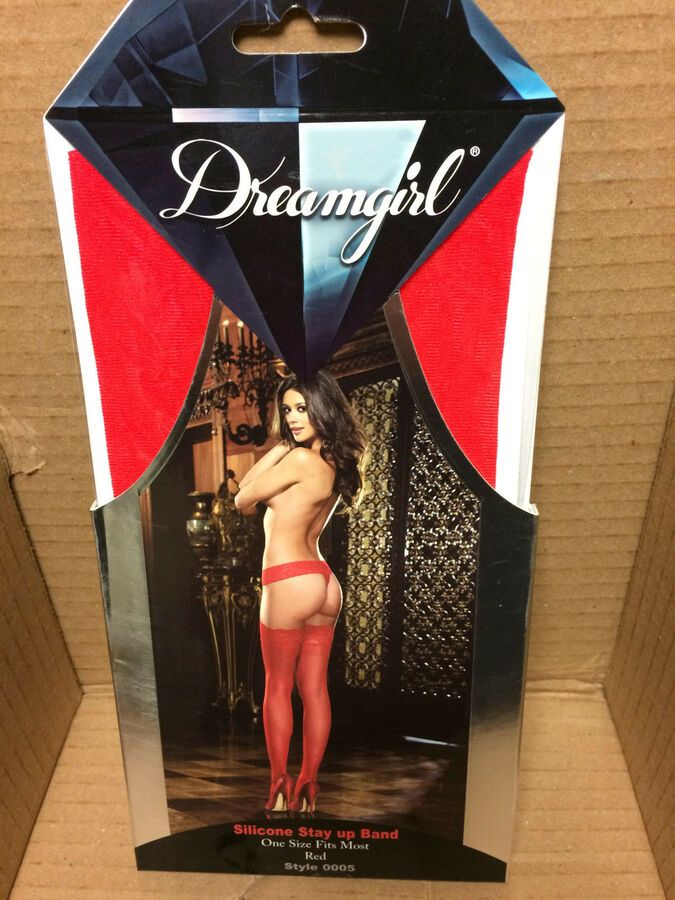 ef911d3af0c Dreamgirl Lingerie One Size Regular Style 0005 Red Hold Ups Hosiery Lace Top  Regular Style Dreamgirl